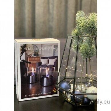 Ekologiškų žvakių dovanų rinkinys Tenderflame Silver 2
