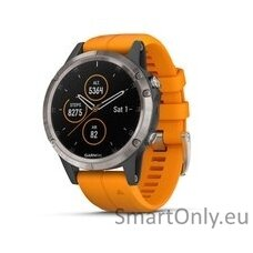 fenix 5 Plus,Sapph,Ti w/Solar Flare Orange Band,GPS,EMEA