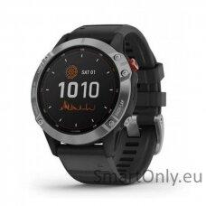 fenix 6 Solar,Silver w/Black Band,GPS Watch,WW