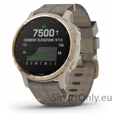 Garmin Fenix 6S Pro Solar Light Gold Shale Suede