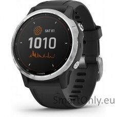 fenix 6S Solar, Silver w/Black Band,GPS Watch,WW