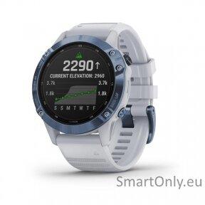fenix 6 Pro Solar,Mineral Blue w/Whitestone band,GPS,EMEA