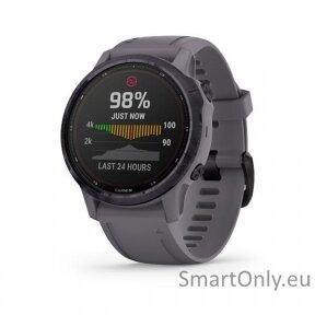 fenix 6S Pro Solar, Amethyst w/Shale Band,GPS Watch,EMEA
