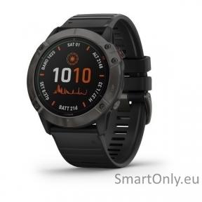 fenix 6X Pro Solar,Ti,,Carbon Gray DLC w/Black Band,GPS,EMEA