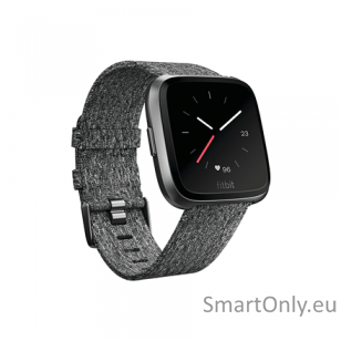 Fitbit Versa NFC Special Edition Smartwatch Charcoal Woven