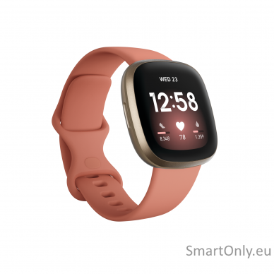 Fitbit Versa 3 Pink Clay/Soft Gold Aluminum 2