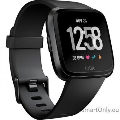Fitbit Versa NFC Black išmanusis laikrodis