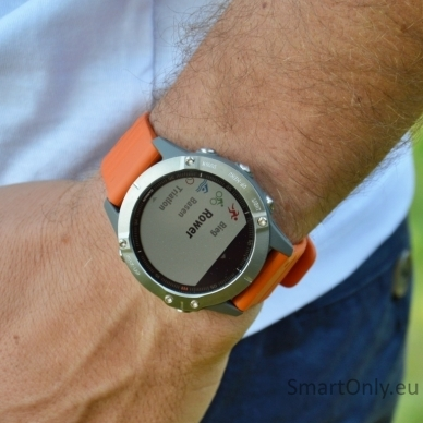 Išmanusis laikrodis Garmin Fenix 6 Saphire Orange 9