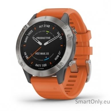 Išmanusis laikrodis Garmin Fenix 6 Saphire Orange