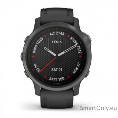 Išmanusis laikrodis Garmin Fenix 6S Saphire Carbon Grey 2