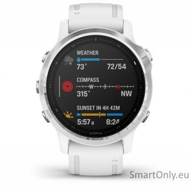Išmanusis laikrodis Garmin Fenix 6S Silver White 2