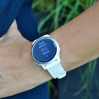 Išmanusis laikrodis Garmin Fenix 6S Silver White 7