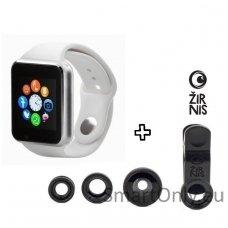 Išmanusis laikrodis - telefonas ZGPAX S799 + telefono objektyvų foto lešių rinkinys Žirnis