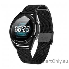 Išmanusis laikrodis DT NO.1 DT28 (Juodas  su metaline apyranke)