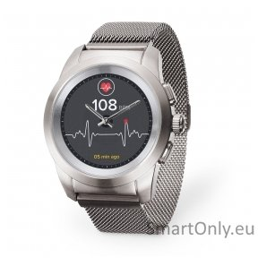 MyKronoz Smartwatch ZeTime Elite Regular Brushed Silver/Milanese