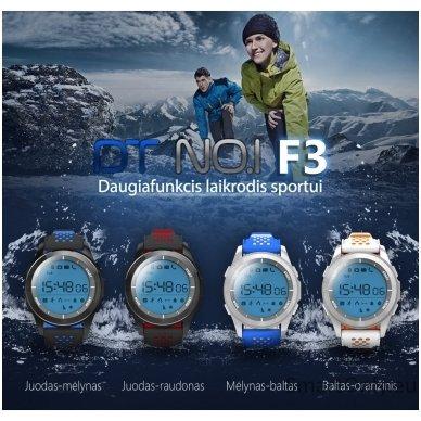Išmanus laikrodis DT NO.1 F3 (Balta/mėlyna) 6