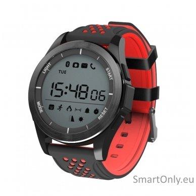 Išmanus laikrodis DT NO.1 F3 (Raudona/juoda)
