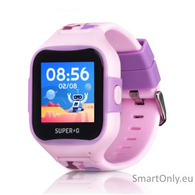 Išmanusis GPS laikrodis-telefonas vaikams Super-G Blast Camo Pink