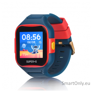 Išmanusis GPS laikrodis-telefonas vaikams Super-G Blast Hero Blue