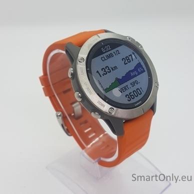 Išmanusis laikrodis Garmin Fenix 6 Saphire Orange 2