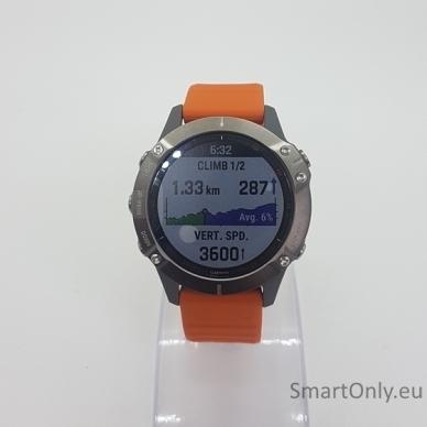 Išmanusis laikrodis Garmin Fenix 6 Saphire Orange 3