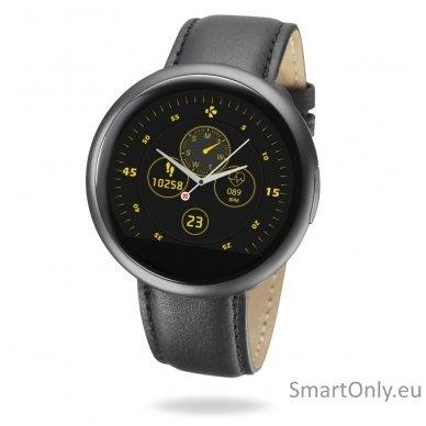 Išmanusis laikrodis MyKronoz Smartwatch ZeRound 2 HR Premium (juoda)