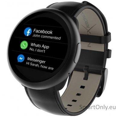Išmanusis laikrodis MyKronoz Smartwatch ZeRound 2 HR Premium (juoda) 2
