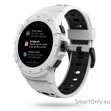 Išmanusis sportinis GPS laikrodis Mykronoz ZeSport 2 (Baltas/Juodas) 2