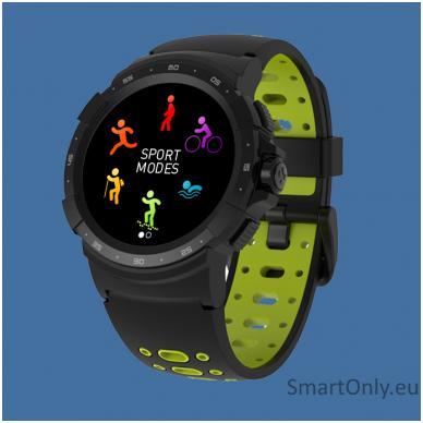 Išmanusis sportinis GPS laikrodis Mykronoz ZeSport2 (Juodas/Geltonas) 2