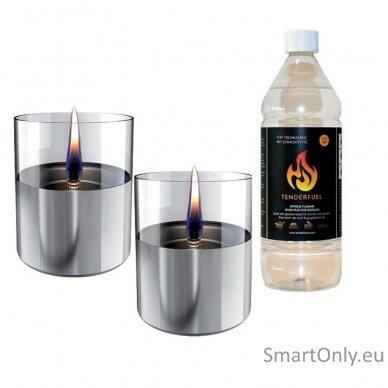 Ekologiškų žvakių dovanų rinkinys Tenderflame Silver